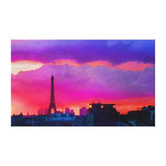 Eiffel torn på solnedgången canvastryck