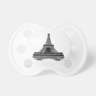Eiffel torn på vitbakgrund napp för barn