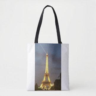 Eiffel torn Paris på natten Tygkasse