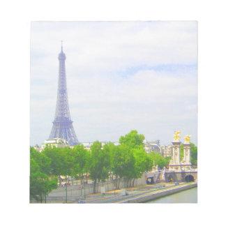 Eiffel torn & Seine, Paris frankrike Anteckningsblock
