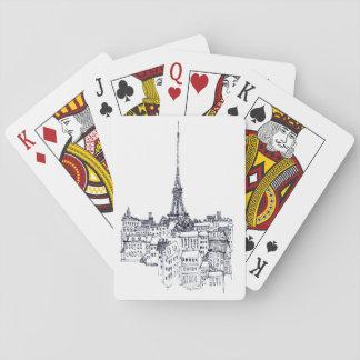 Eiffel torn spelkort