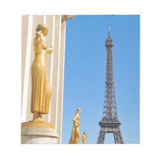 Eiffel torn (turnera Eiffel), i Paris, frankrike Anteckningsblock