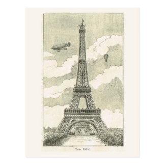 Eiffel torn vykort