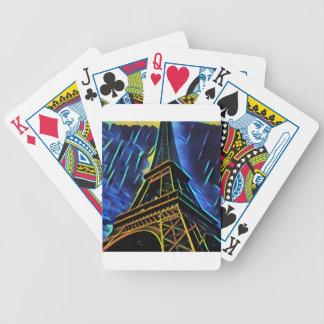 Eiffel tornblått spelkort