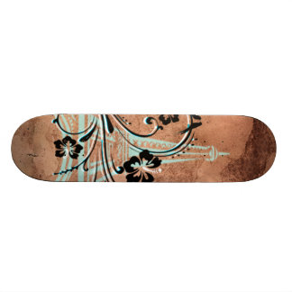 Eiffel tornblommigt skateboard bräda 19,5 cm