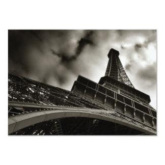 Eiffel torninbjudan 12,7 x 17,8 cm inbjudningskort