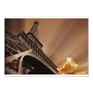 Eiffel torninbjudningar 12,7 x 17,8 cm inbjudningskort