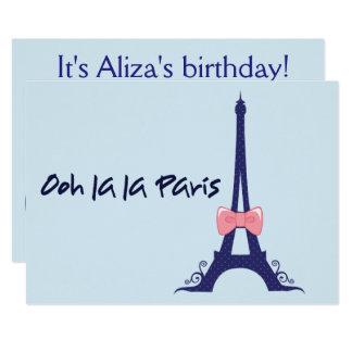 Eiffel tornParis födelsedag 12,7 X 17,8 Cm Inbjudningskort