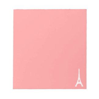 Eiffel tornrosor anteckningsblock