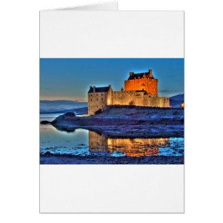 Eilean Donan slott HDR Hälsningskort