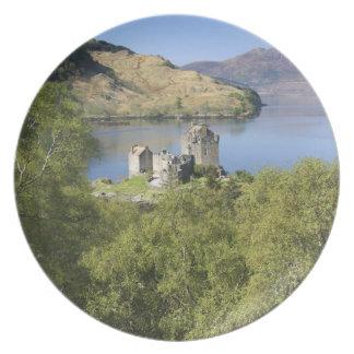 Eilean Donan slott, Skottland. Den berömda Eileane Tallrik