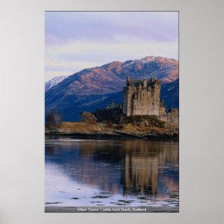 Eileen Donan slott, fjord Duich, Skottland Poster