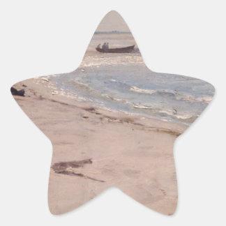 Eilif Peterssen - från stranden på Sele Stjärnformat Klistermärke