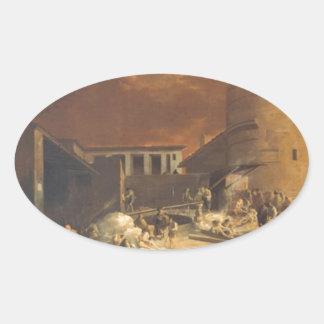 Ein Römischer Kalkofen vid den Sebastien bourdonen Ovalt Klistermärke