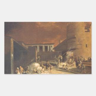 Ein Römischer Kalkofen vid den Sebastien bourdonen Rektangulärt Klistermärke