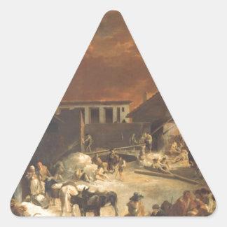 Ein Römischer Kalkofen vid den Sebastien bourdonen Triangelformat Klistermärke
