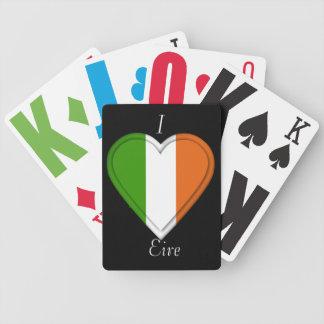 Eire Irland irländsk flagga Spelkort