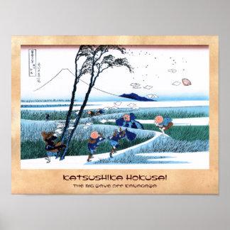 Ejiri i det Suruga landskapet Katsushika Hokusai Poster