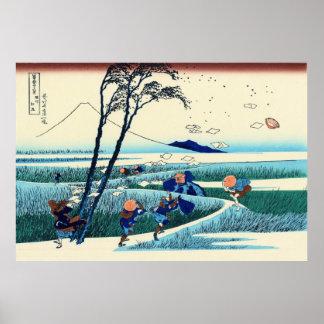 Ejiri i det Suruga landskapet, vid Katsushika Poster