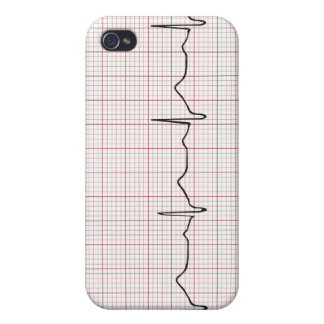 EKG-hjärtslaget på grafpapper, PhD (doktor) iPhone 4 Cover