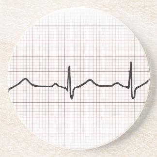 EKG-hjärtslaget på grafpapper, PhD (doktor) Underlägg