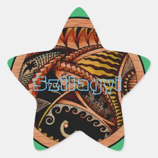 Eklektiska Oceania två Stjärnformat Klistermärke