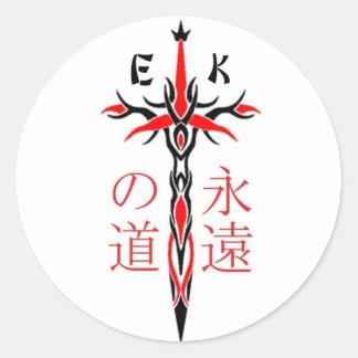 EKMA-svärd Runt Klistermärke