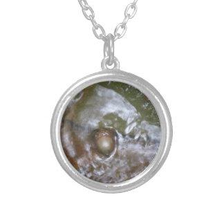 ekollonhalsband silverpläterat halsband