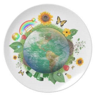 Ekologi: återvinna - tallrik