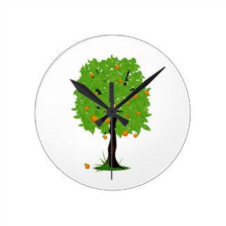Ekologi design.png för orange träd rund klocka