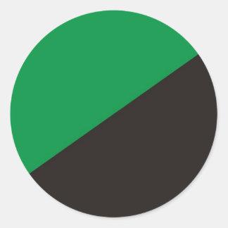 ekologi för svart för grönt för anarkiecoflagga runt klistermärke
