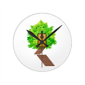 ekologi image.png för trappor för lönnbuskedörr rund klocka