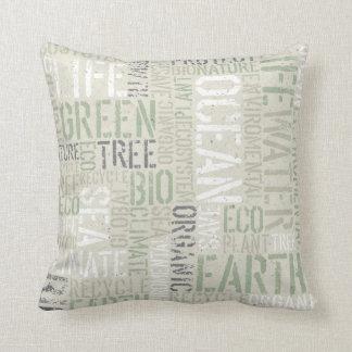Ekologi uttrycker dekorativ kudde