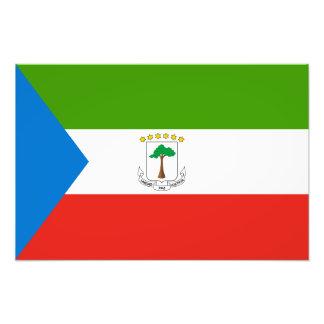 Ekvatorialguinea flagga fotografiska tryck