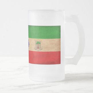 Ekvatorialguinea flagga frostat ölglas