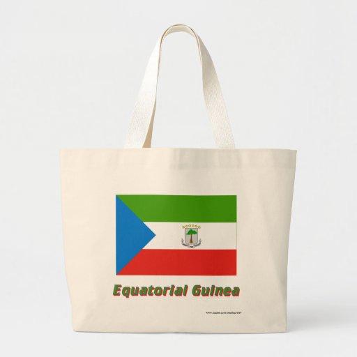 Ekvatorialguinea flagga med namn tote bags