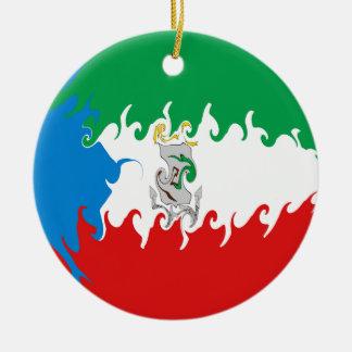 Ekvatorialguinea Gnarly flagga Julgransdekorationer