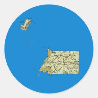 Ekvatorialguinea kartaklistermärke runt klistermärke