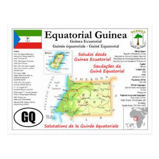Ekvatorialguinea kartavykort vykort