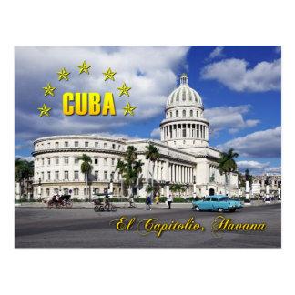 El Capitolio (medborgarehuvudstaden), Havana, Kuba Vykort