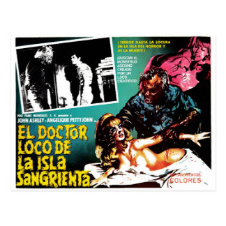 El-doktor Loco De La Isla Sangrieta Vykort