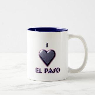 El Paso -- Blått med glöd Två-Tonad Mugg