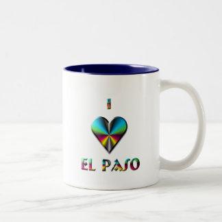 El Paso -- Blåttgrönt & Burgundy Två-Tonad Mugg
