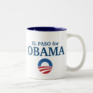 EL PASO för den Obama anpassningsbar din Två-Tonad Mugg
