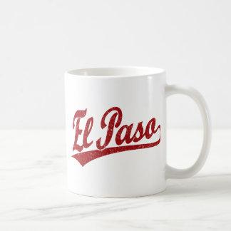 El Paso skrivar logotypen i rött Kaffemugg