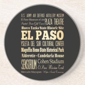 El Paso stad av Texas statlig typografikonst Underlägg