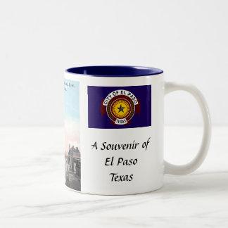 El Paso Texas, souvenirmugg Två-Tonad Mugg