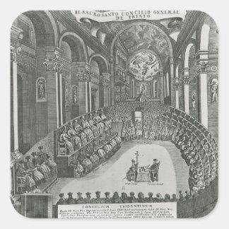 El Sacrosanto Concilio Allmän de Trento Fyrkantigt Klistermärke