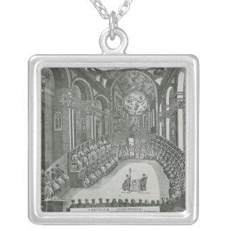El Sacrosanto Concilio Allmän de Trento Halsband Med Fyrkantigt Hängsmycke