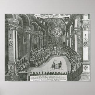 El Sacrosanto Concilio Allmän de Trento Poster